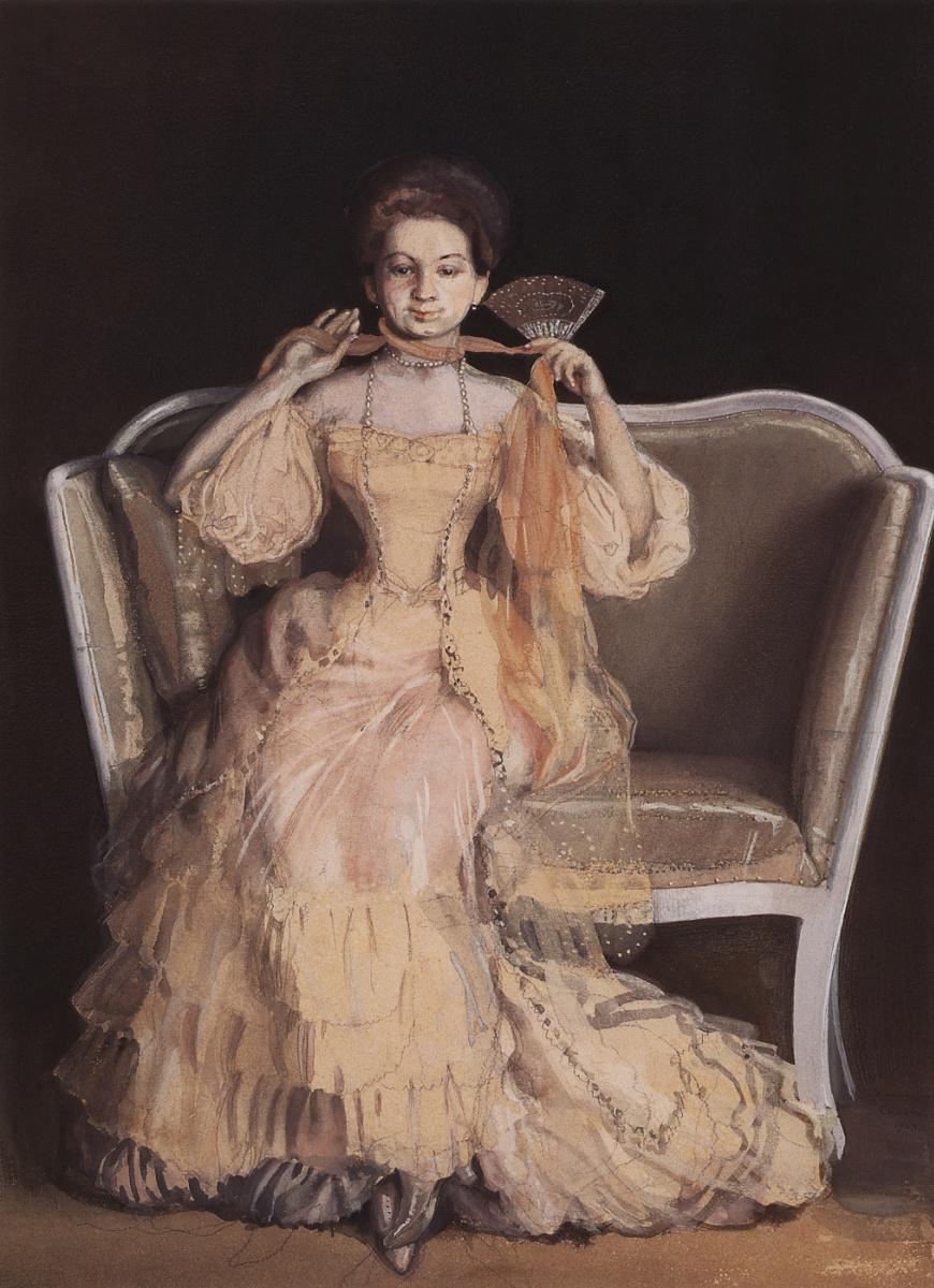 Константин Андреевич Сомов. Дама в розовом