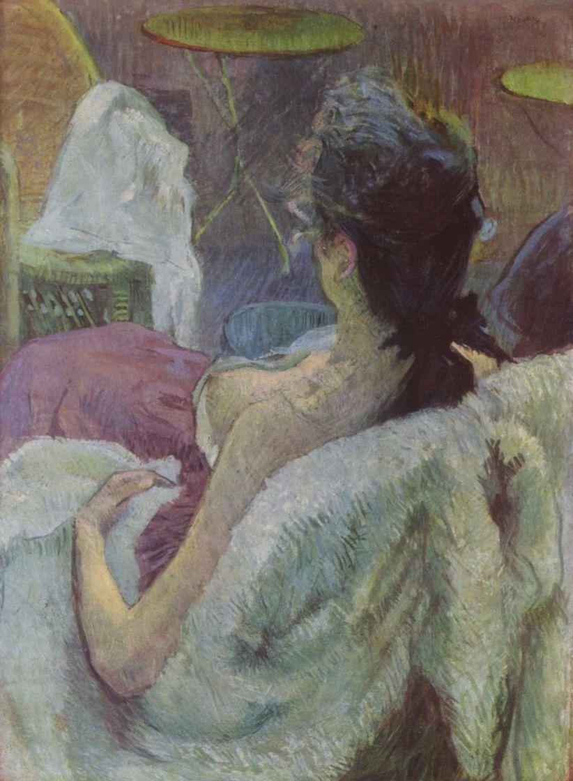 Анри де Тулуз-Лотрек. Отдыхающая женщина
