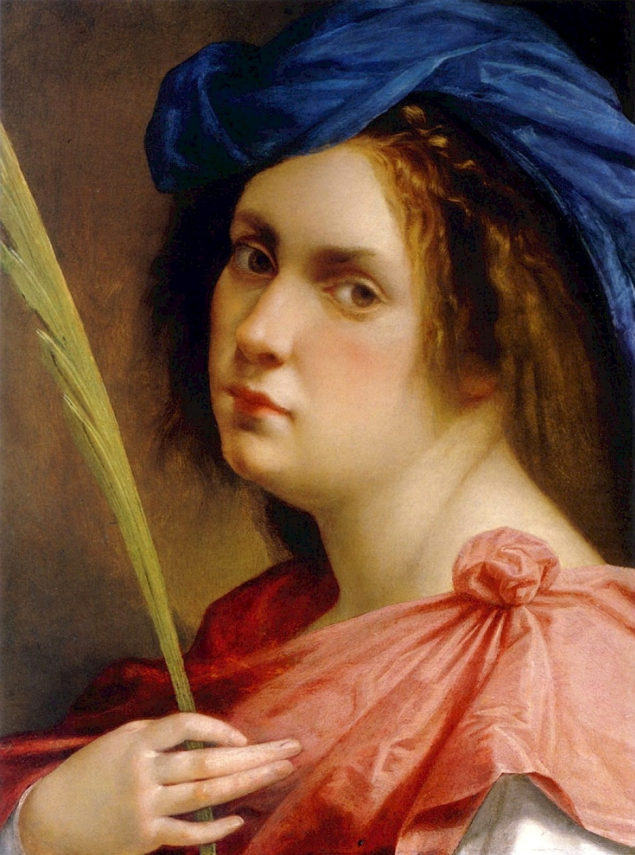 Artemisia Gentileschi. Self-portrait in the image of a martyr