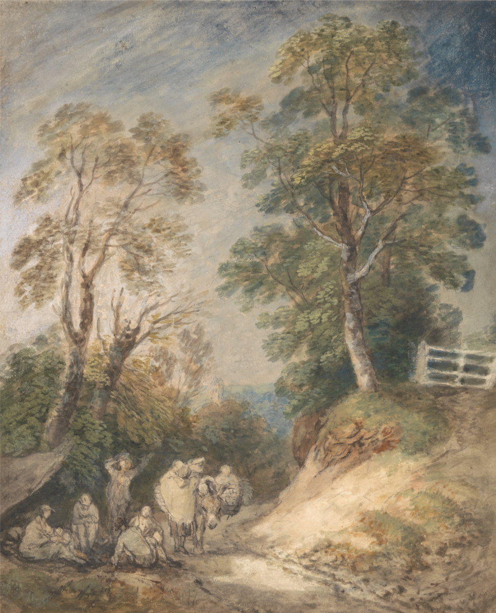 Thomas Gainsborough. Gypsies in a country lane