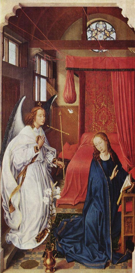 Рогир ван дер Вейден. Благовещение Марии