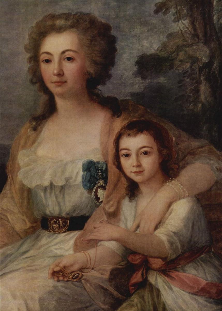 Ангелика Кауфман. Портрет графини Анны Протасовой с племянницей, фрагмент
