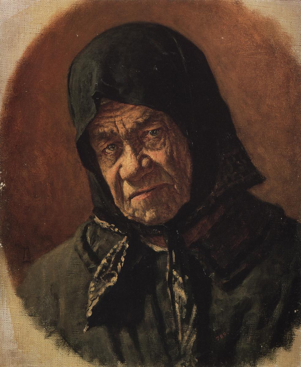 Vasily Vereshchagin. The old beggar ninety six years
