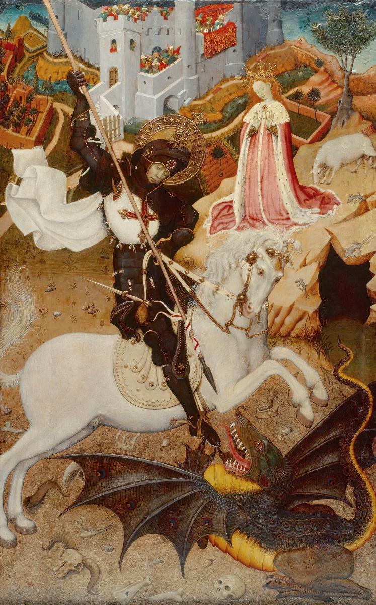 Бернат Марторель. Святой Георгий, поражающий дракона