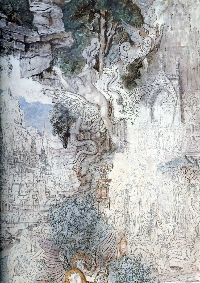 Гюстав Моро. Химеры (фрагмент)