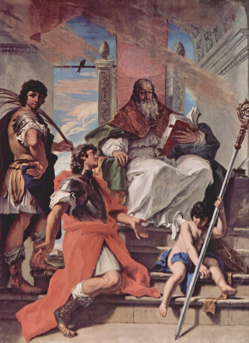 Себастьяно Риччи. Свв. Прокул, Фирм и Рустик из Вероны и ангел