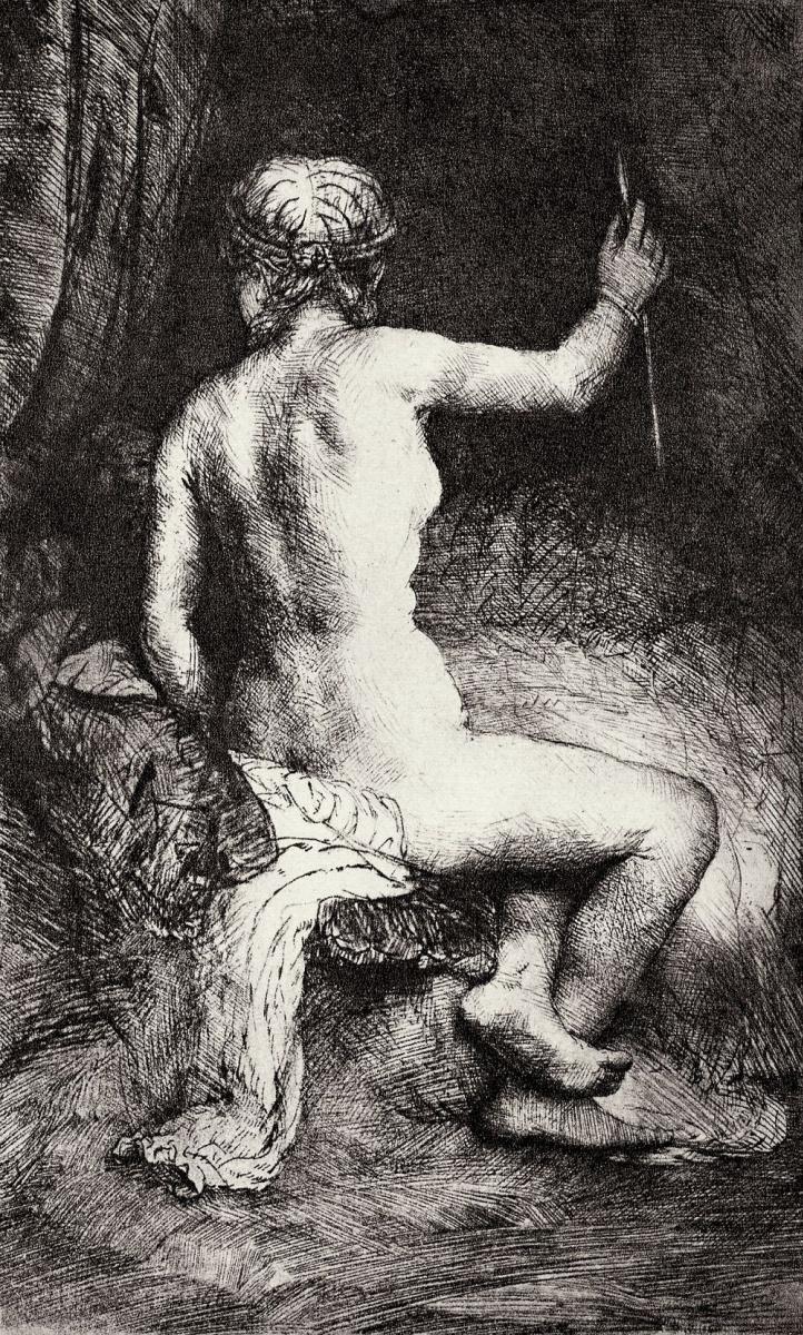 Рембрандт Ван Рейн. Обнаженная со стрелой