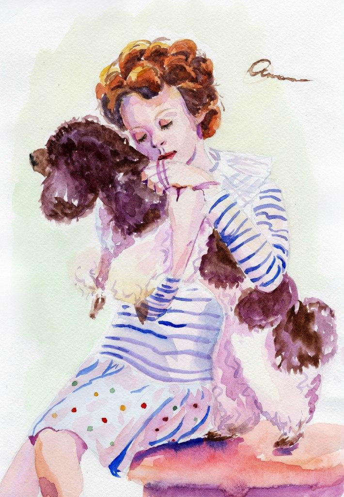 Ekaterina Viktorovna Mitrofanova. Girl with Poodle
