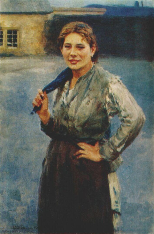 Николай Алексеевич Касаткин. Женщина-шахтер