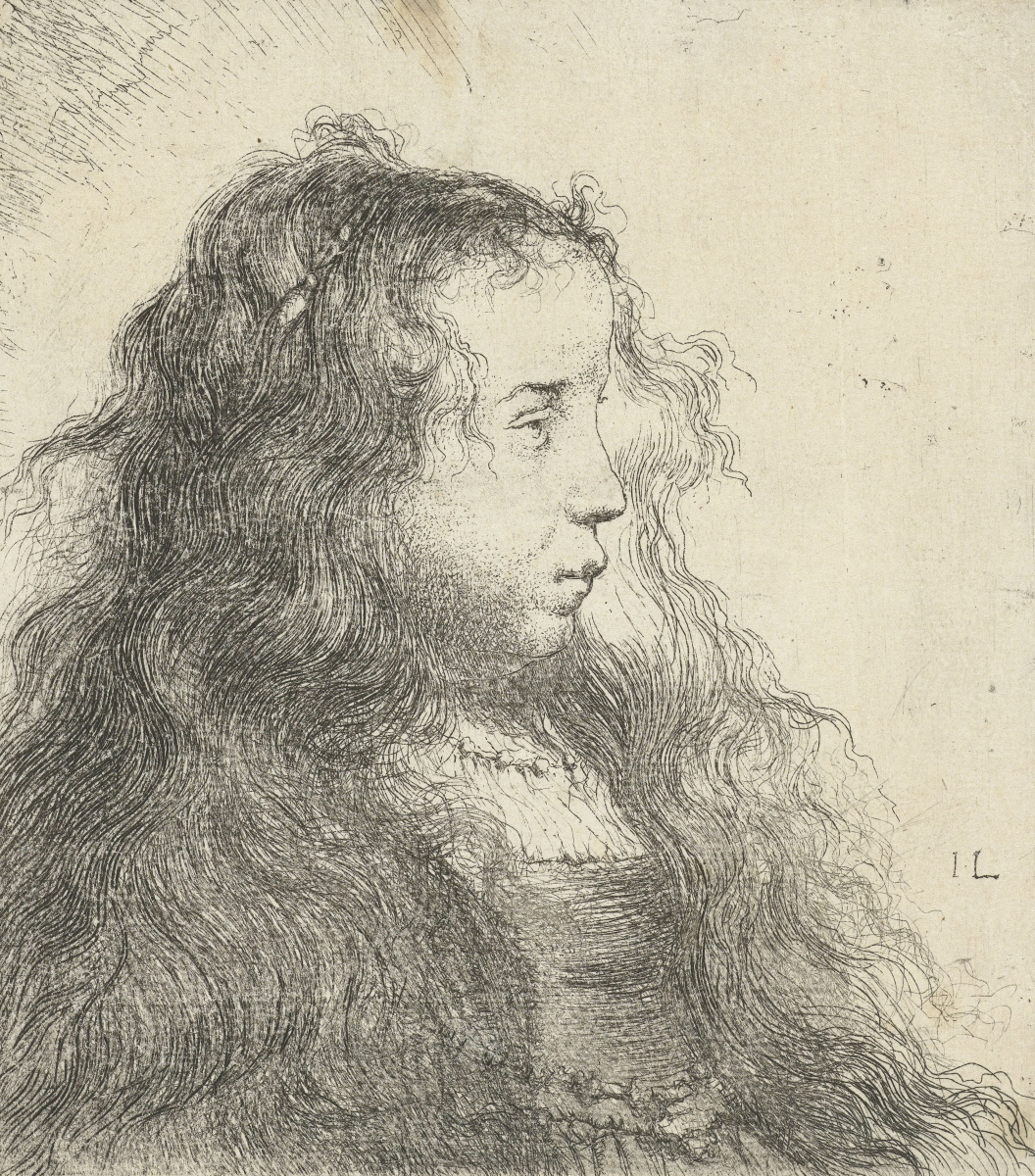 Jan Lievens. Portrait of a girl with flowing hair