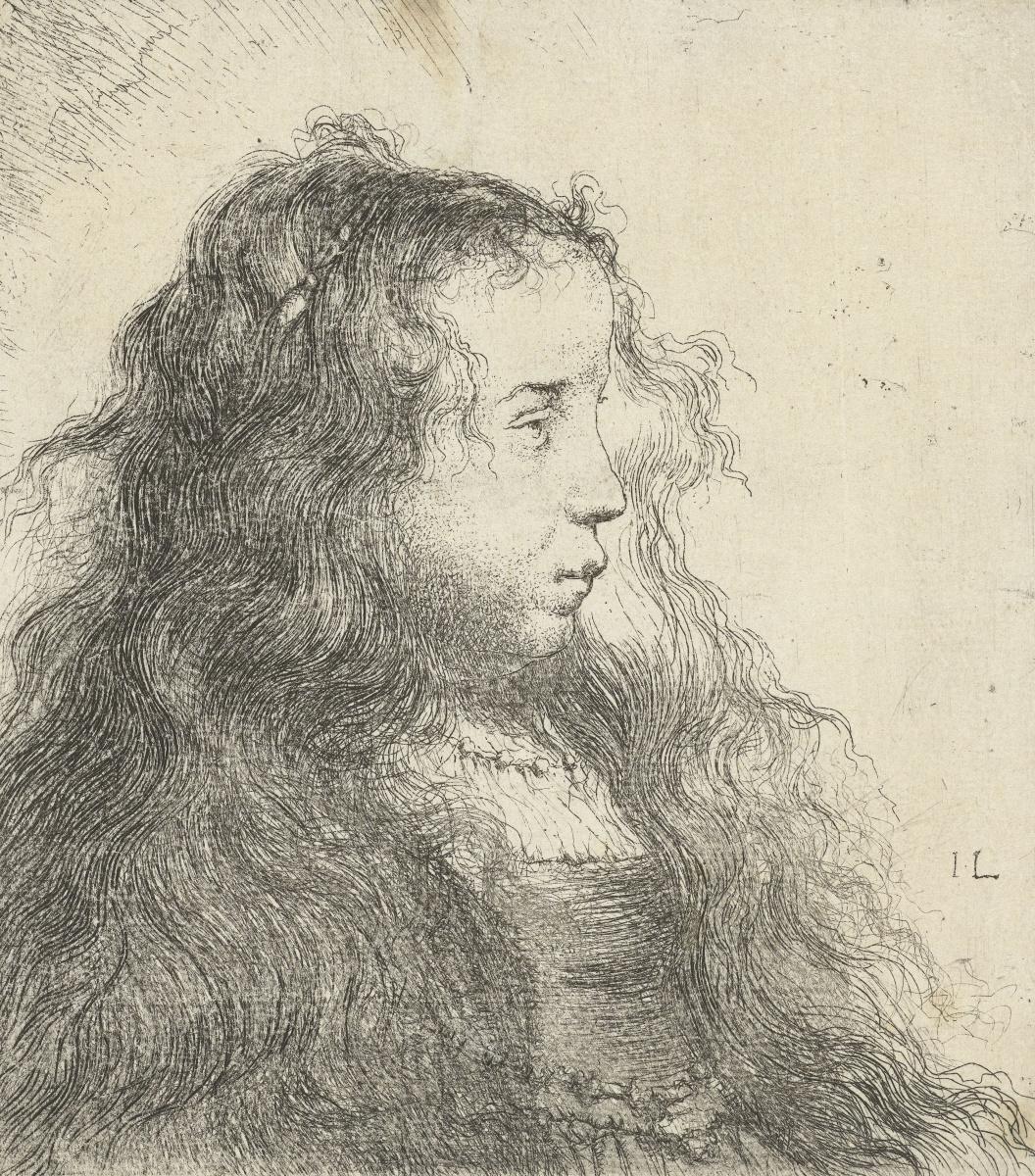 Ян Ливенс. Портрет девушки с распущенными волосами