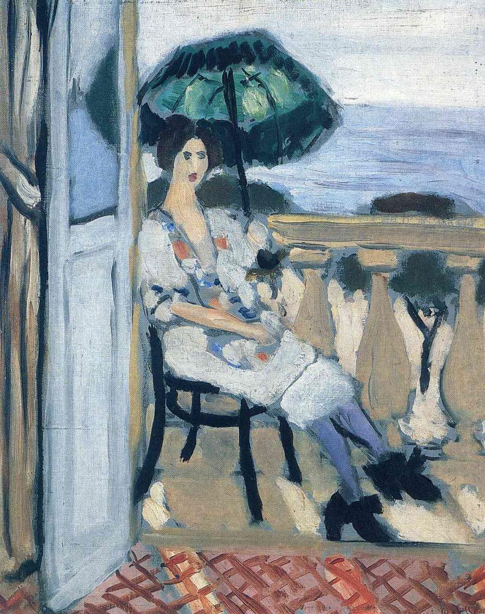 Анри Матисс. Женщина с зонтом