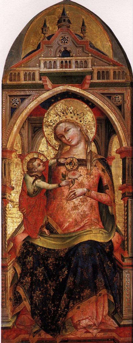 Лоренцо Венециано. Мадонна с младенцем