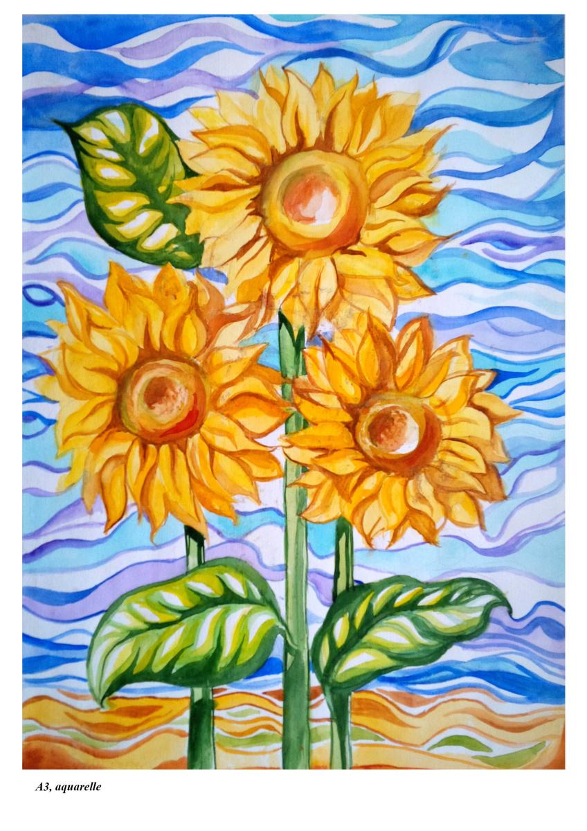Daria Nurtazina. Sunflowers