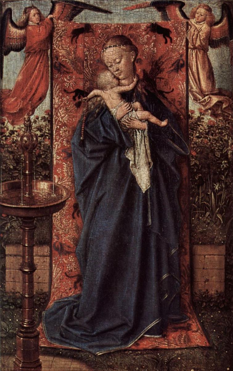 Ян ван Эйк. Дева Мария у источника