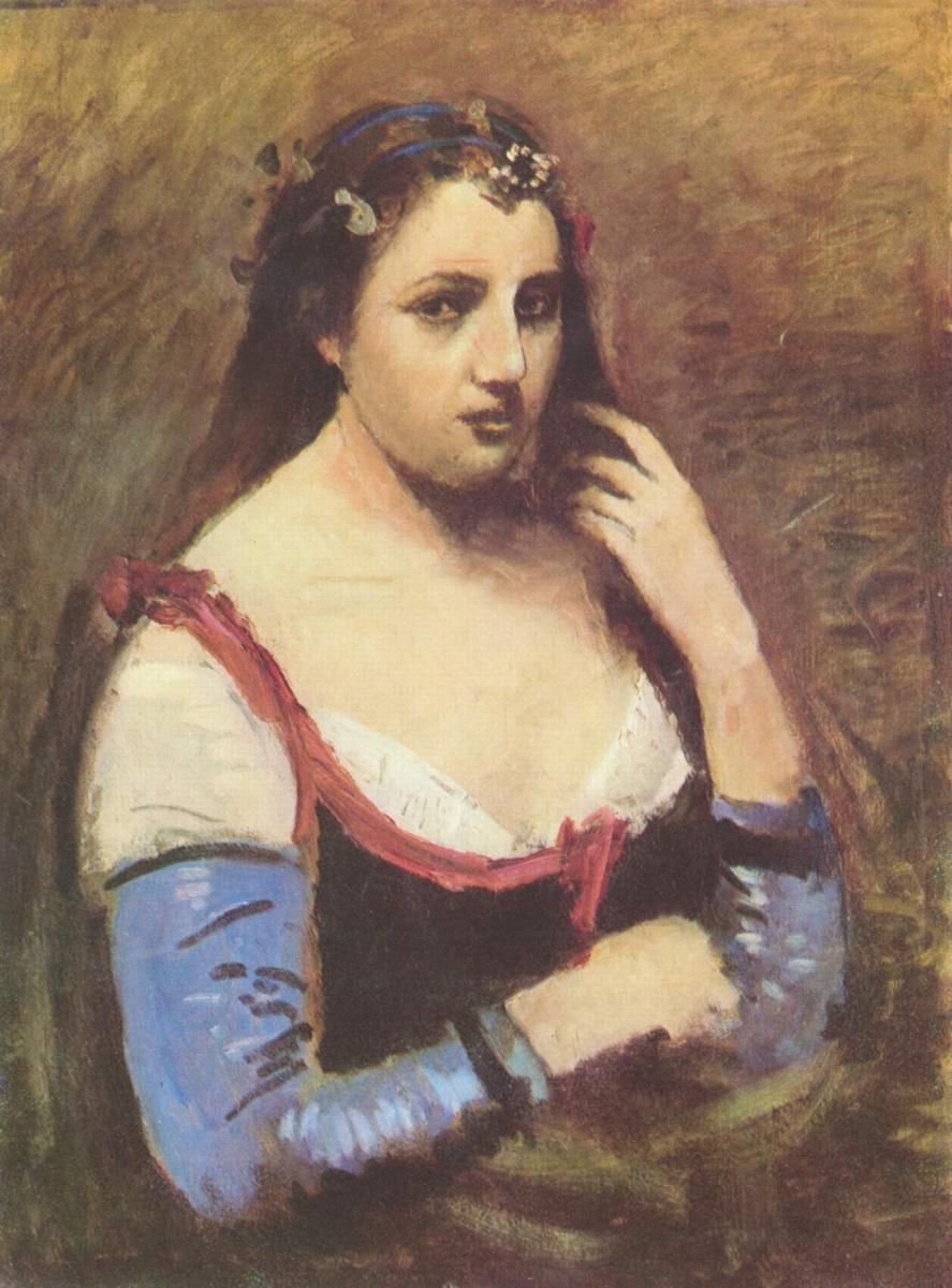 Камиль Коро. Женщина с маргаритками