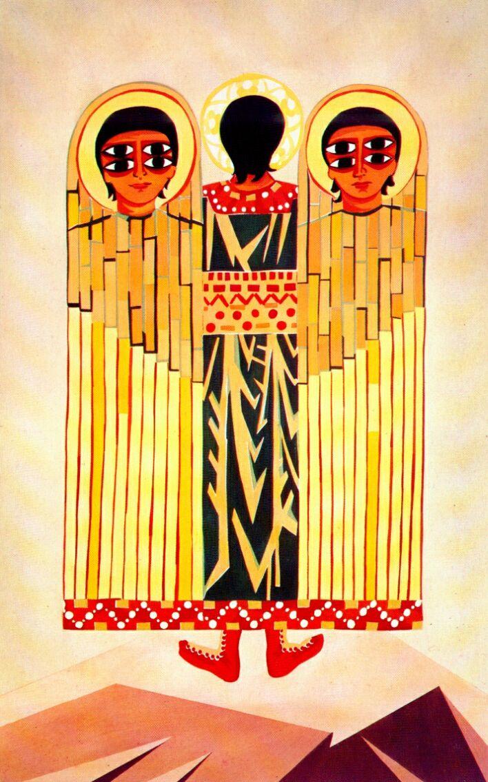 Наталья Сергеевна Гончарова. Эскиз костюма серафима к балету Леонида Мясина «Литургия»