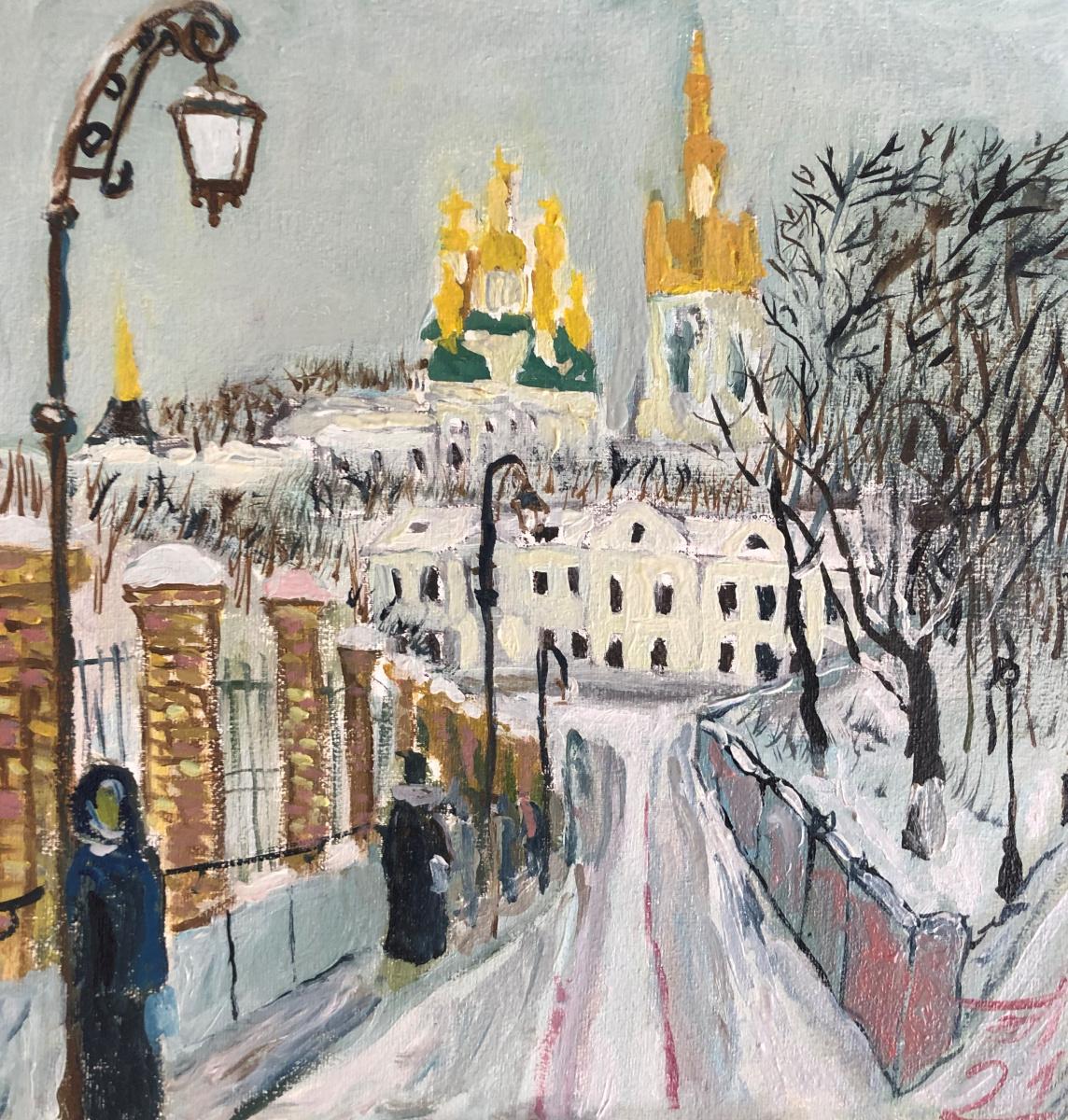 Sergey Vladimirovich Sebini. Kiev . Pechersk. Winter.