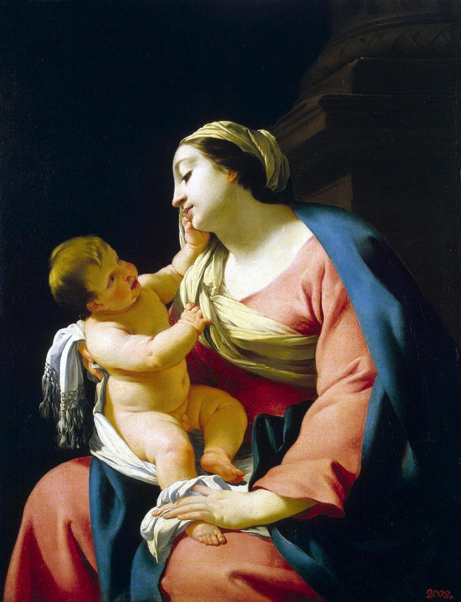 Симон Вуэ. Мадонна с младенцем