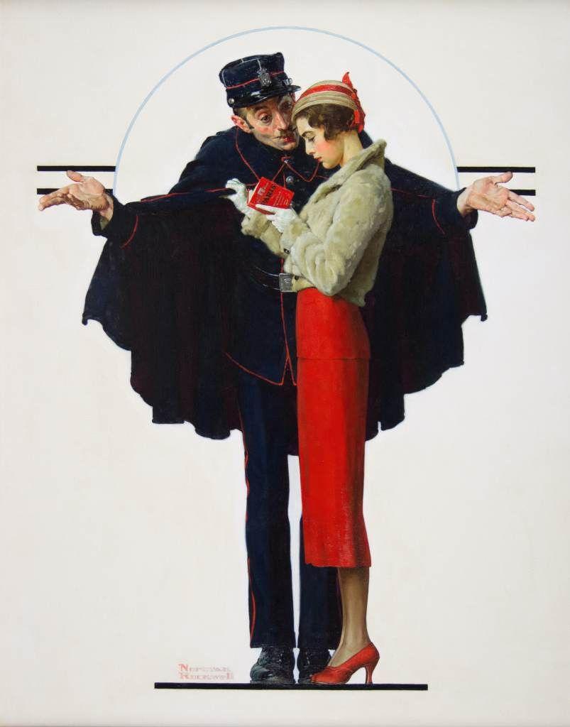 "Норман Роквелл. Заблудилась в Париже. Обложка журнала ""The Saturday Evening Post"" (30 января 1932 год)"