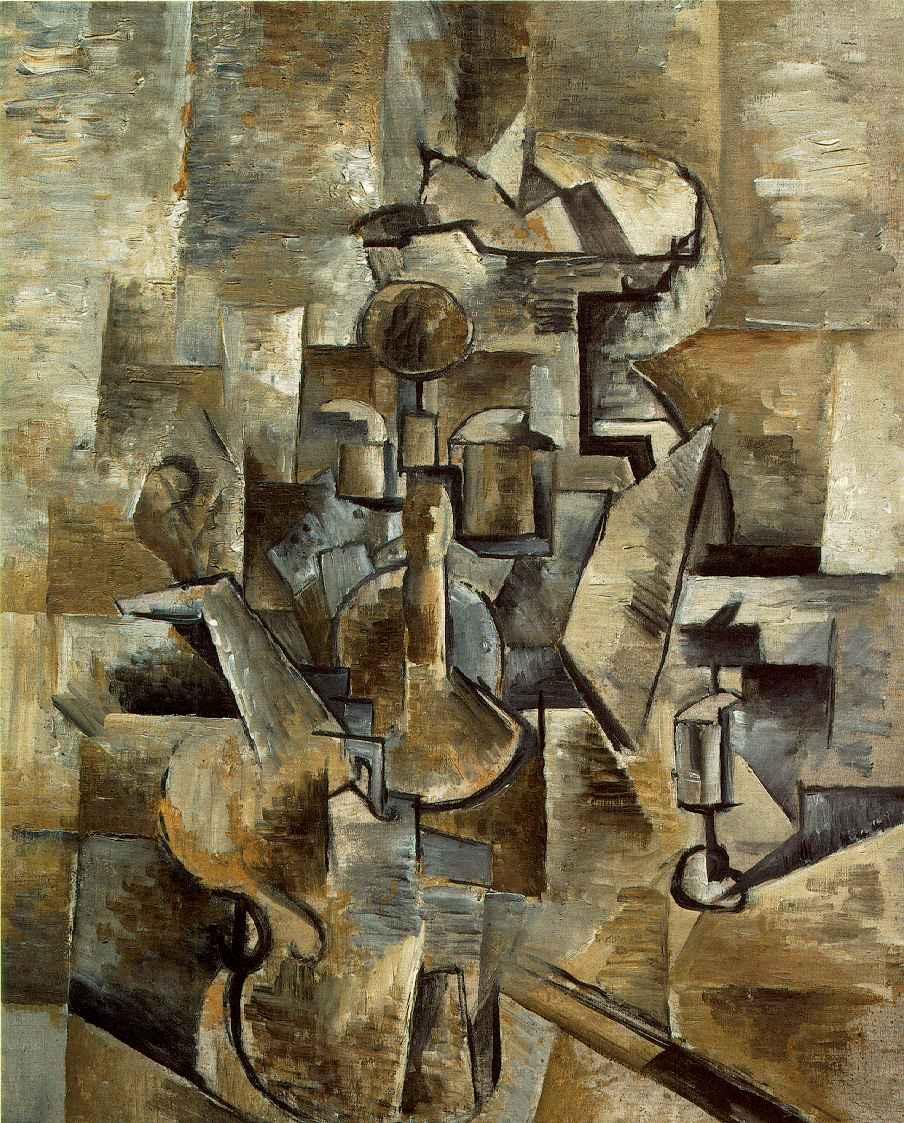 Жорж Брак. Скрипка и подсвечник