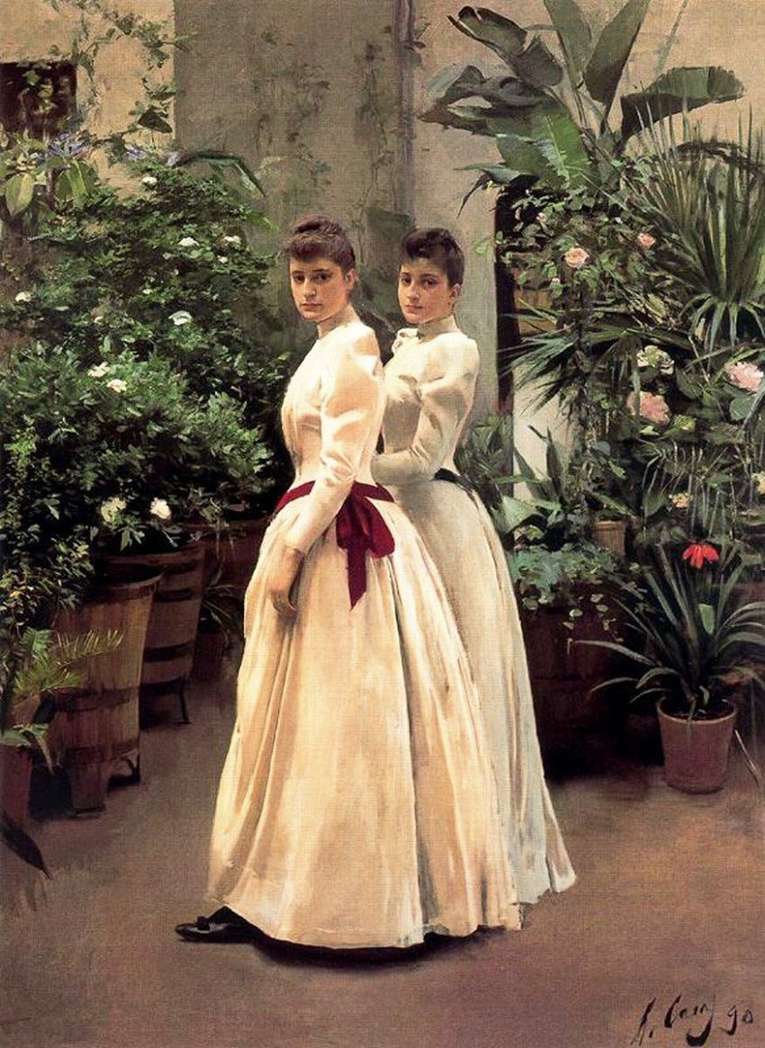 Рамон Касас Карбо. Портрет двух молодых женщин