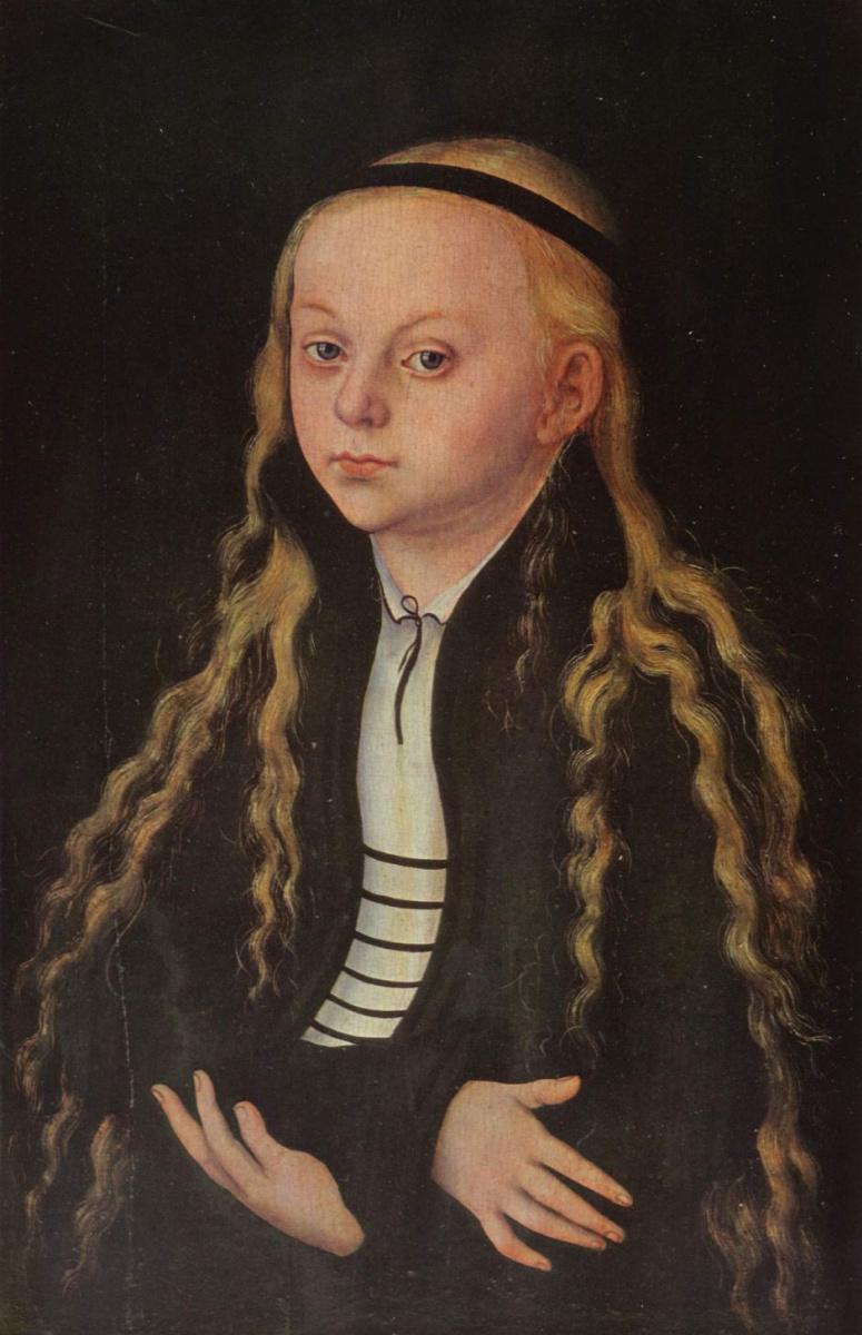 Лукас Кранах Старший. Портрет девочки