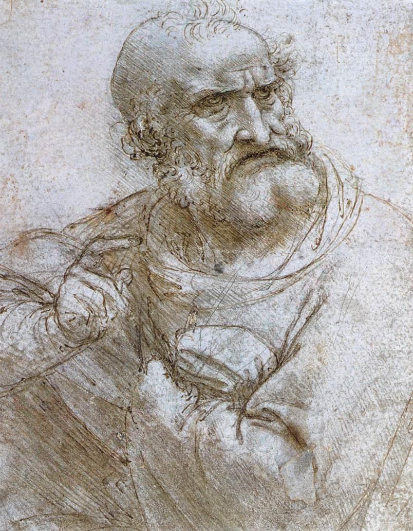 """Leonardo da Vinci. Sketch of """"the last supper"""""""