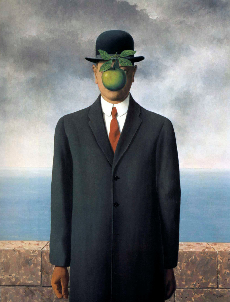 Rene Magritte. The son of man