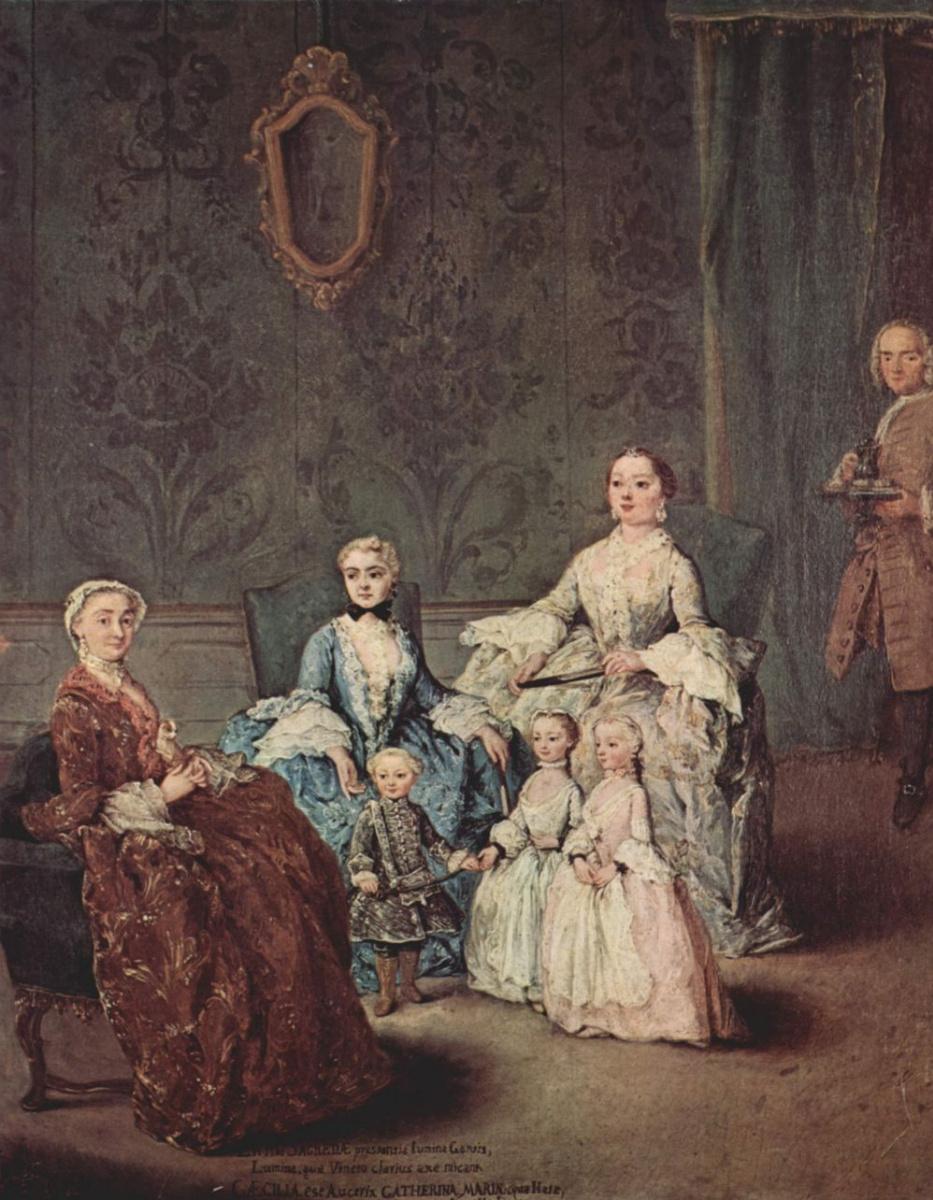 Пьетро Лонги. Портрет семьи Сагредо