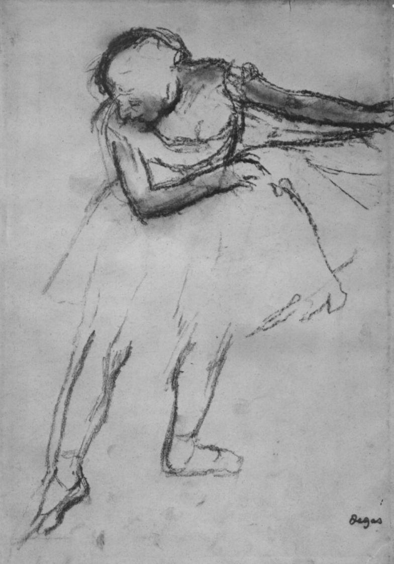 Эдгар Дега. Балерина с вытянутой вперед правой ногой