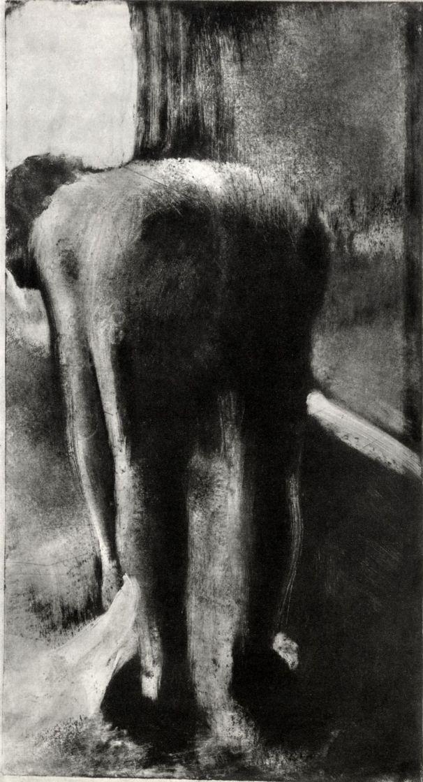 Эдгар Дега. Женщина, вытирающая ноги у края ванны