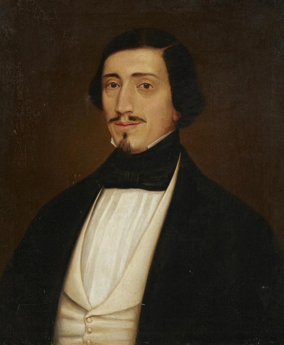 Ludwig Knaus. Self-portrait