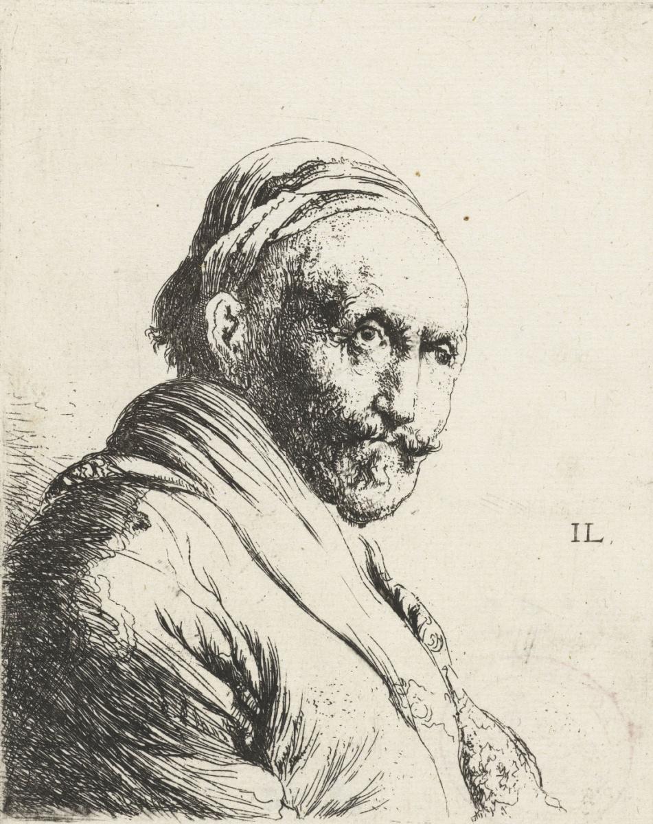 Ян Ливенс. Портрет пожилого мужчины с усами