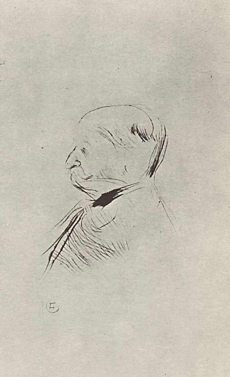 Анри де Тулуз-Лотрек. Мужской портрет