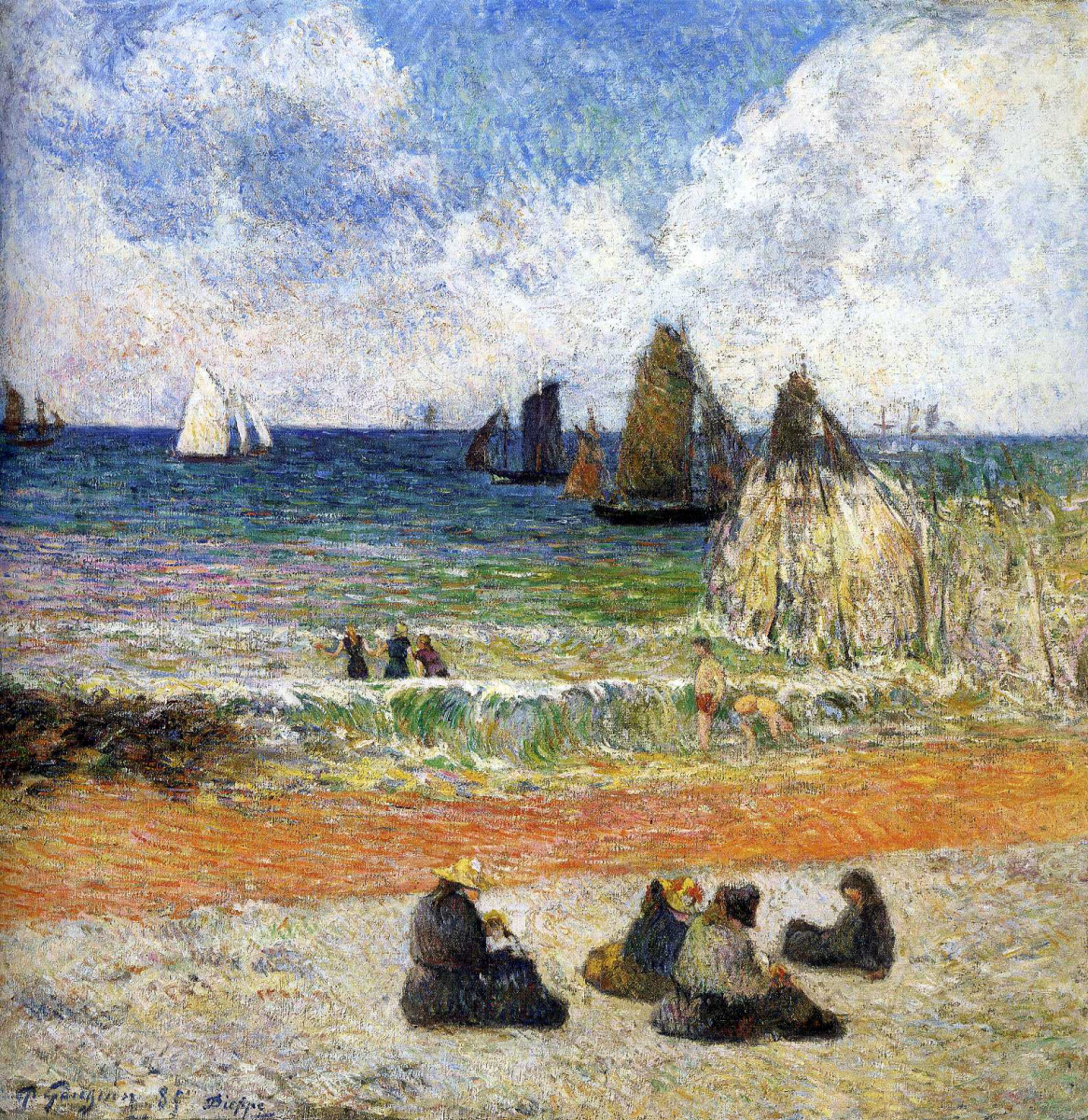 Paul Gauguin. Bathing, Dieppe