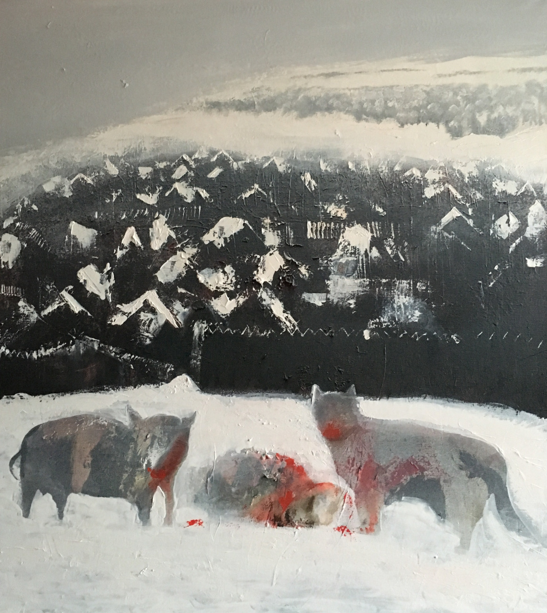Nikolai margin. Winter in the village