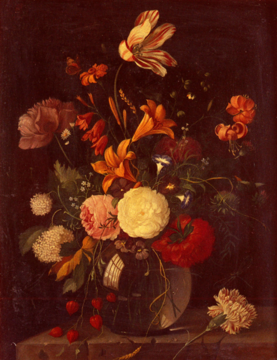 Франц Ксавье Пиелер. Натюрморт с вазой