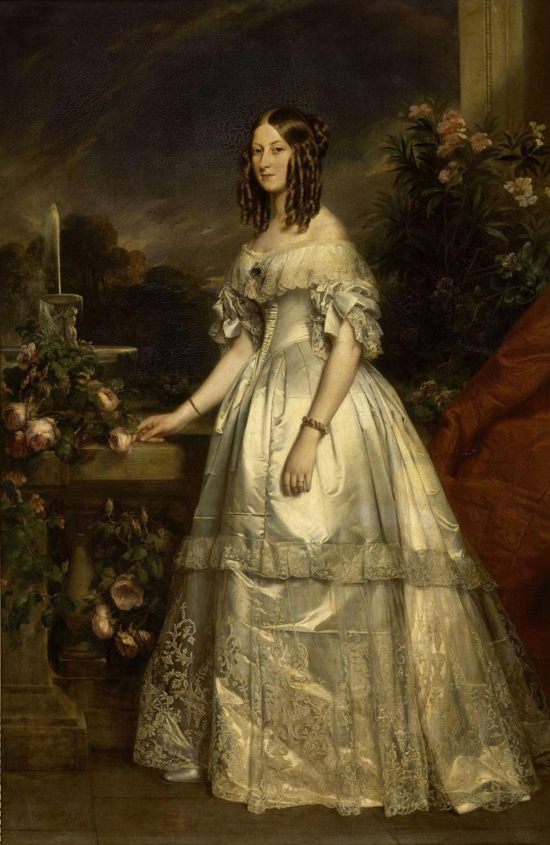 Франц Ксавер Винтерхальтер. Виктория Августа Антониетта Сакс-Кобург-Гота, герцогиня Немура (версия для Версальского дворца)