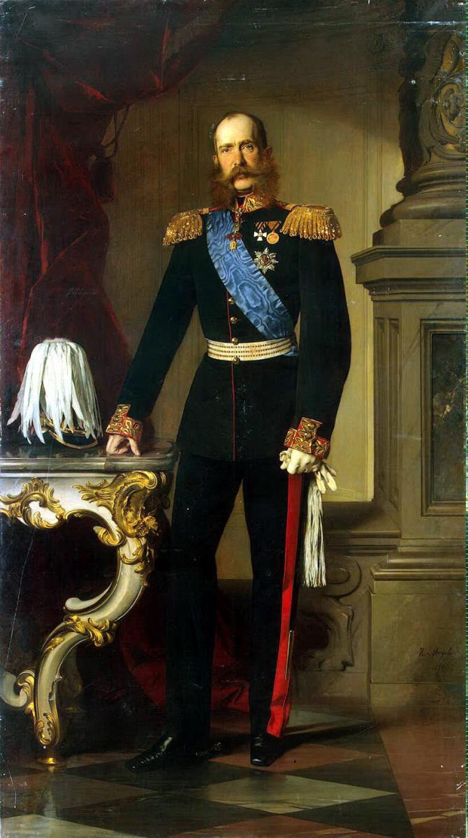 Генрих фон Ангели. Портрет Франца Иосифа I