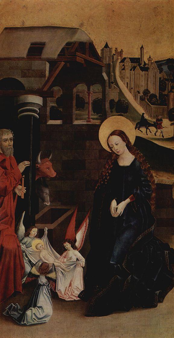 Фридрих Херлин. Рождество, Поклонение младенцу Христу