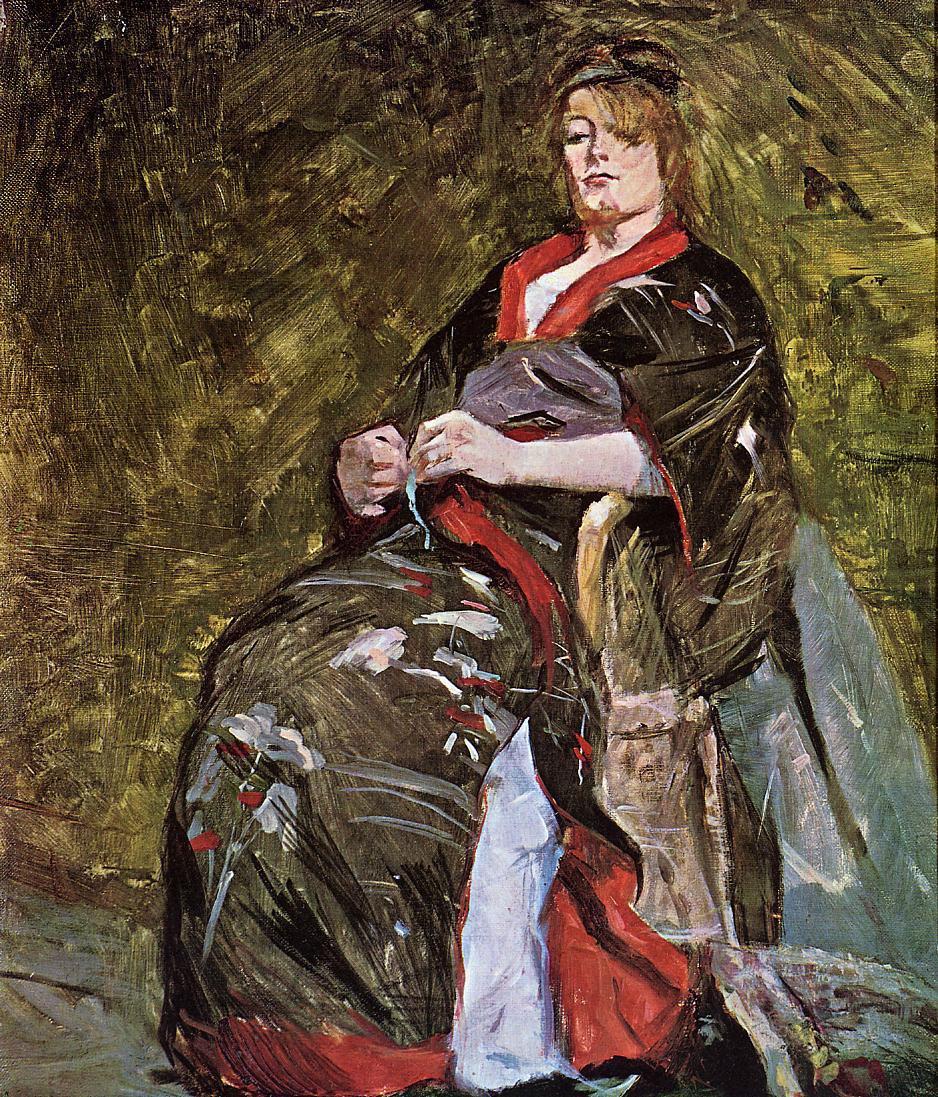Анри де Тулуз-Лотрек. Лили Гренье в кимоно