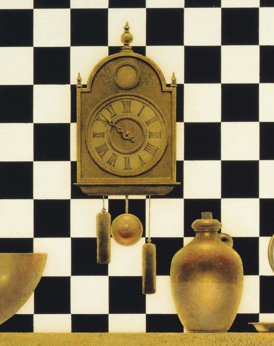 """Максфилд Пэрриш. """"Валет червей"""". Шахматный стол. Фрагмент"""