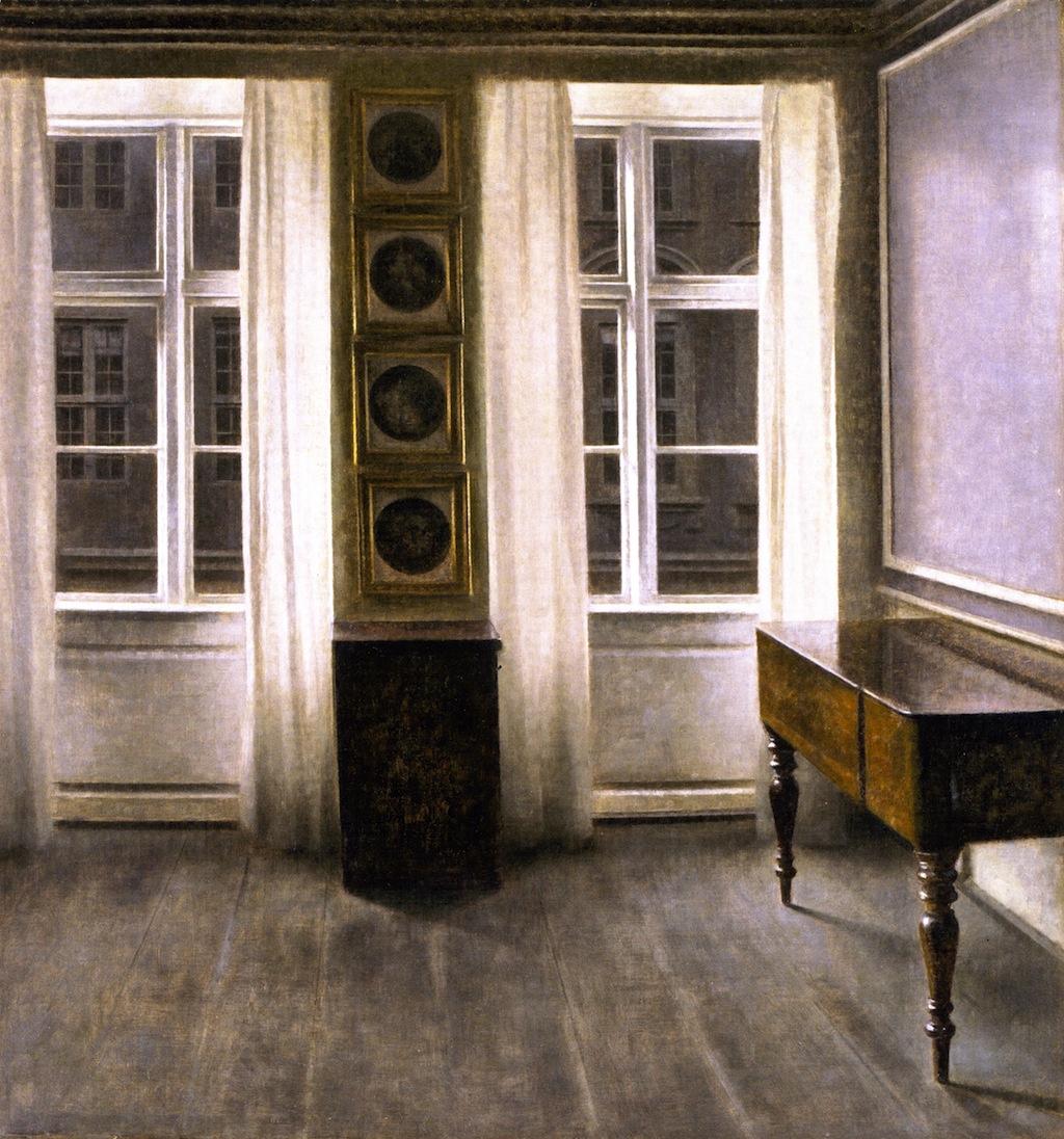 Вильгельм Хаммерсхёй. Интерьер с четырьмя картинами
