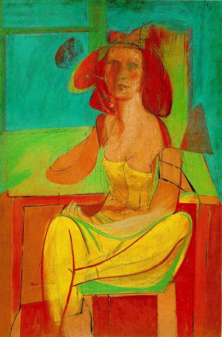Willem de Kooning. Seated woman