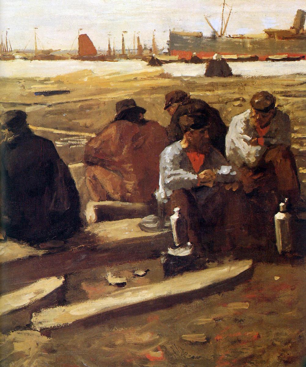 Georg Hendrik Breitner. Lunch workers