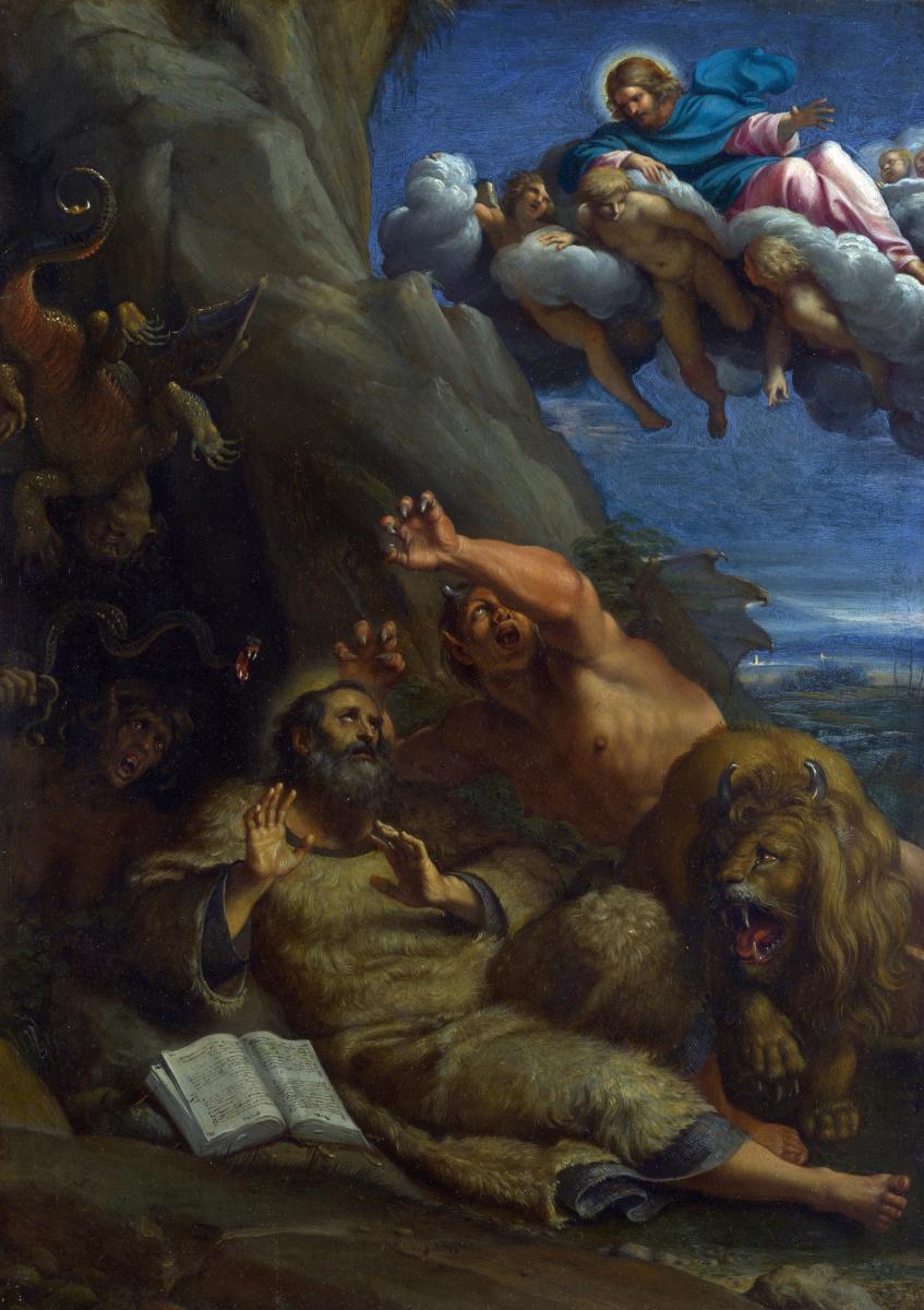 Аннибале Карраччи. Явление Христа Святой Антоний Аббат