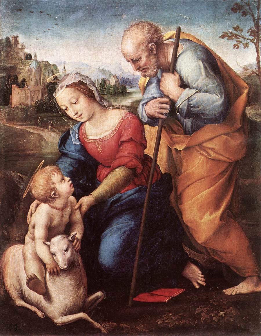 Рафаэль Санти. Святое семейство с агнцем (Мадонна Фальконьери)