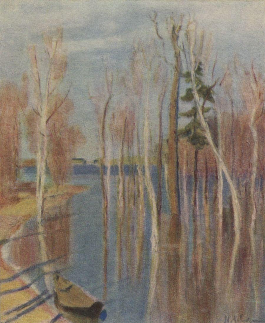 Исаак Ильич Левитан. Весна. Большая вода. Эскиз одноименной картины