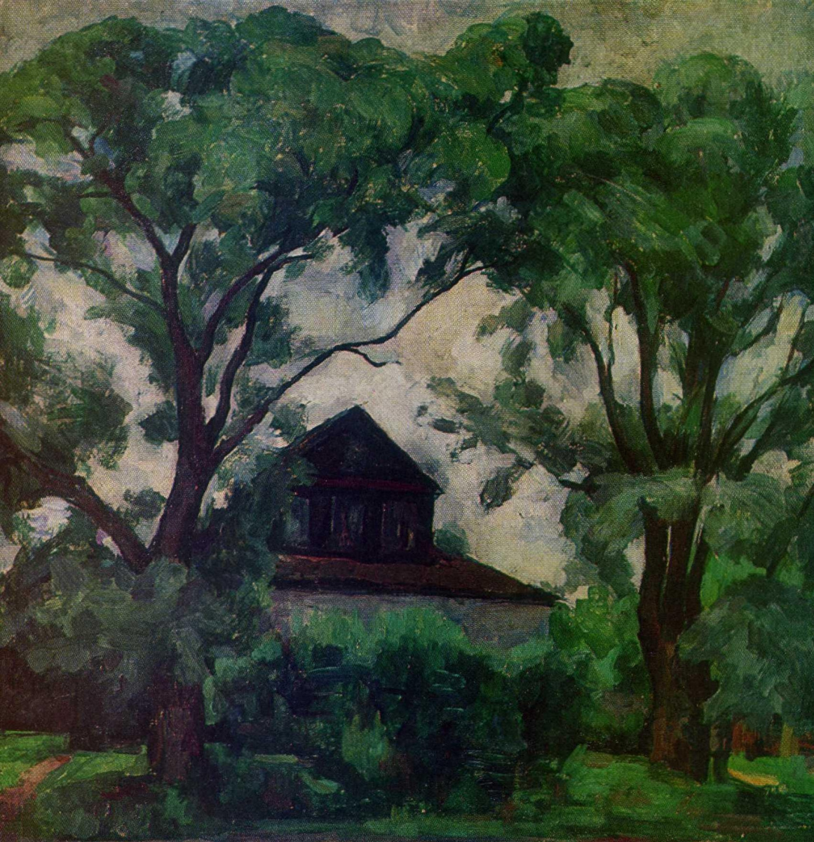 Anatoly Adrianovich Lebedev-Shuisky. The old trees and house